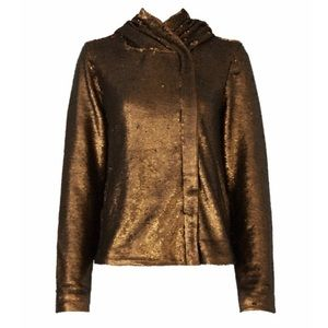 Free People Gold Sequin Hoodie